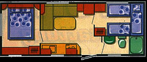 Mobilheim Modell 1 Grundriss