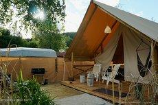 Luxus Lodgezelt Aussenansicht