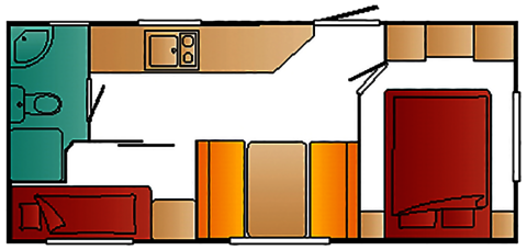 Mobilheim Modell Escapade Grundriss