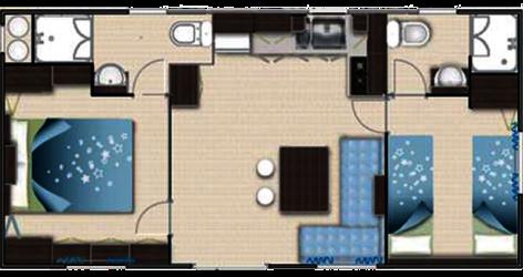 Mobilheim Modell 2 Grundriss