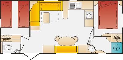 Mobilheim Modell Sweet Home Grundriss